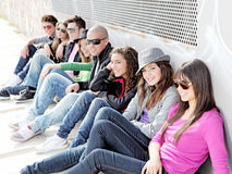 Diverse group of teens students stock photos
