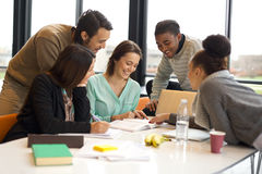 Diverse group of university students studying royalty free stock photography