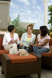 Diverse group of woman at a book club. Royalty Free Stock Photos