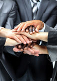 Diverse group of workers with their hands together Royalty Free Stock Photography