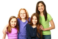 Diverse group of young girls Stock Photography