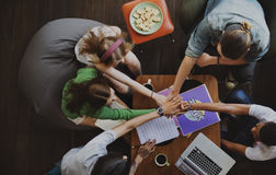 Diverse Group Young People Hands Pile Concept Royalty Free Stock Image
