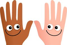 Diverse hands Royalty Free Stock Photography