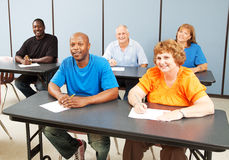 Diverse Happy Adult Education Class royalty free stock photos