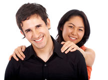 Diverse happy couple Royalty Free Stock Photo