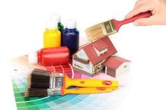 Diverse het schilderen hulpmiddelen Royalty-vrije Stock Fotografie