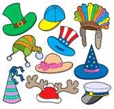 Diverse hoedeninzameling 2 royalty-vrije illustratie