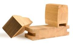 Diverse houten staven voor meubilair Stock Foto