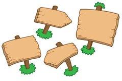 Diverse houten tekens Stock Afbeeldingen