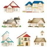 Diverse huizen Stock Afbeeldingen