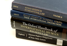Diverse human rights books law education university eam Royalty Free Stock Images