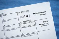 Diverse inkomst för form 1099-MISC royaltyfria bilder