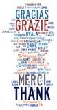 Diverse internationale taal info-tekst vector illustratie