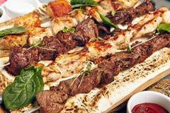 Diverse kebab Royalty-vrije Stock Foto's