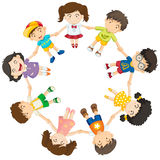 Diverse kids in a circle Royalty Free Stock Images