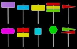 Diverse kleur isoleerde tekens vector illustratie