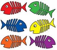 Diverse kleurenfishbones royalty-vrije illustratie