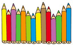 Diverse kleurenpotloden vector illustratie