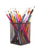 Diverse kleurenpotloden Royalty-vrije Stock Afbeelding