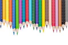 Diverse kleurenpotloden Stock Foto