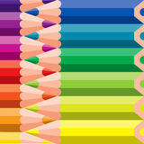 Diverse kleurpotloden Stock Fotografie
