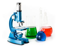 Diverse kleurrijke flessen royalty-vrije stock foto