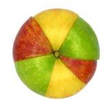 Diverse kleurrijke soorten appelen Stock Foto