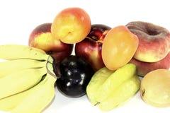 Diverse kleurrijke vruchten royalty-vrije stock afbeeldingen