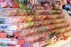 Diverse Kleurrijke Zoete Jelly For Sale In Candy-Opslag Royalty-vrije Stock Afbeeldingen