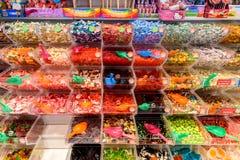 Diverse Kleurrijke Zoete Jelly For Sale In Candy-Opslag Royalty-vrije Stock Foto's