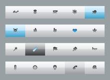 Diverse knappar Arkivfoton