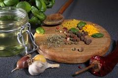 Diverse kruiden en kruiden Stock Fotografie