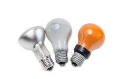 Diverse lampe à incandescence électrique Photo stock