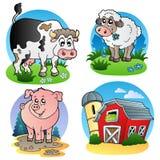 Diverse landbouwbedrijfdieren 1 Royalty-vrije Stock Foto's