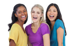 Diverse laughing women looking at camera Royalty Free Stock Photos