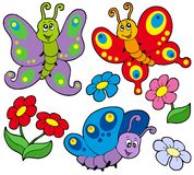Diverse leuke vlinders royalty-vrije illustratie