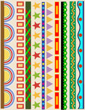 Diverse lijnen van de kleurengrens Royalty-vrije Stock Foto's