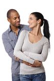 Diverse loving couple smiling Royalty Free Stock Images