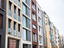 Diverse luxeflatgebouwen in de winter Royalty-vrije Stock Foto's
