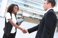Diverse Man and Woman Business Team Stock Photography