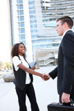 Diverse Man and Woman Business Team Royalty Free Stock Images