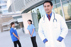 Diverse Man and Woman Medical Team Stock Image