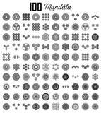 Diverse mandalainzamelingen van 100 reeksen stock illustratie