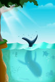 Diverse Marine Life Under het Overzees stock illustratie