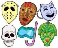 Diverse maskersinzameling 1 stock illustratie