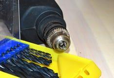 Diverse mechanische hulpmiddelen voor werktuigkundigen en bouwers royalty-vrije stock afbeeldingen