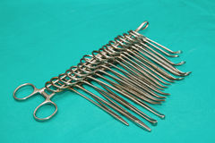 Diverse medical and surgery instruments Stock Image