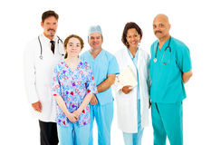 Diverse Medical Team. Trustworthy, diverse medical team isolated on a white background stock photography