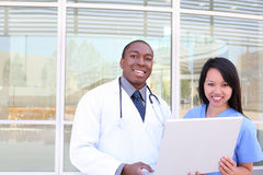 Diverse Medical Team at Hospital Royalty Free Stock Photo