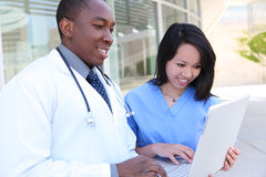 Diverse Medical Team at Hospital Royalty Free Stock Photos